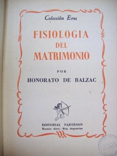 """Fig. 7: Page de garde de Fisiología del matrimonio, Buenos Aires, éd. Partenón, 1946, Coll. """"Eros"""". (Biblioteca Nacional de la República Argentina)"""